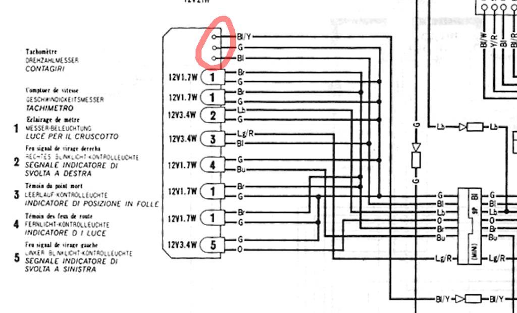 Schema Elettrico Honda Dominator : Impianto elettrico aiuto per interpretazione honda
